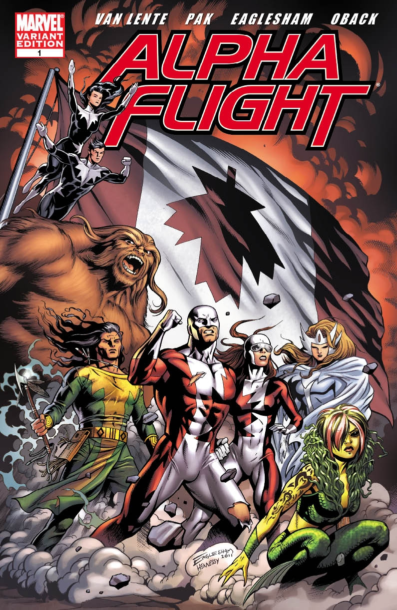 Eaglesham Variant Cover for Alpha Flight#1