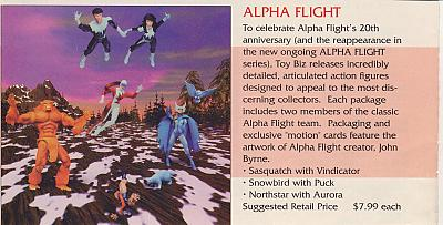 Alpha Flight 20th Anniversary Figures Solicitation