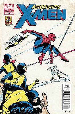 Astonishing X-Men #48 - Aja Spider-Man 50th Anniversary Variant