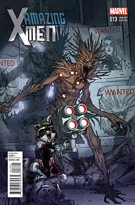 Amazing X-Men #13 (Rocket Raccoon + Groot Variant)