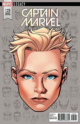 Captain Marvel (2017) #125 Headshot Variant