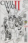 Civil War II #1 Midtown Comics Exclusive Sketch Variant