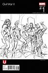 Civil War II #1 Marvel Unlimited Exclusive Team Cap Hip-Hop Sketch Variant