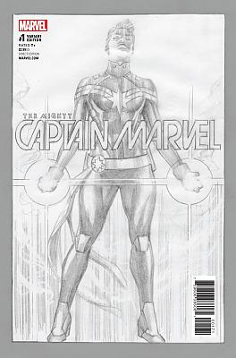 The Mighty Captain Marvel (2017) #01 (Ross Sketch Variant)
