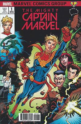 The Mighty Captain Marvel (2017) #01 Legends Comics/Brain Trust A Variant