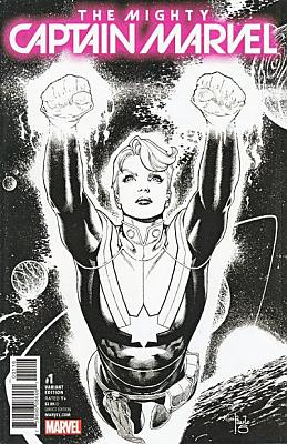 The Mighty Captain Marvel (2017) #01 Siqueira Sketch Variant