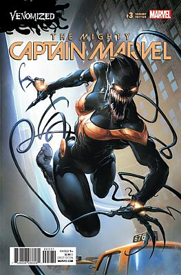 The Mighty Captain Marvel (2017) #03 Venomized Variant