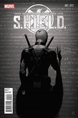 S.H.I.E.L.D. #1 Deadpool Party (Black & White) Variant