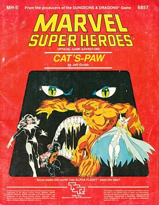 Marvel Super Heroes RPG - Cat's Paw Module MH-5